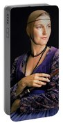 Lady With Recorder Portable Battery Charger