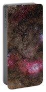 Lagoon Nebula And Trifid Nebula Portable Battery Charger