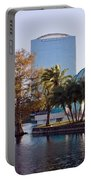 Lake Eola's  Classical Revival Amphitheater Portable Battery Charger by Lynn Palmer