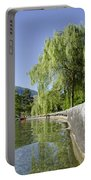 Lakefront With Trees Portable Battery Charger