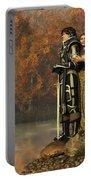Lancelot And Guinevere Portable Battery Charger by Daniel Eskridge