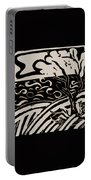 Land Sea Sky In Black And White Portable Battery Charger