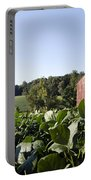 Landscape Soybean Field In Morning Sun Portable Battery Charger