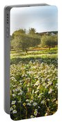 Landscape With Daisies Portable Battery Charger