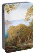 Landscape With View Of Lerici Portable Battery Charger