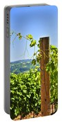 Landscape With Vineyard Portable Battery Charger