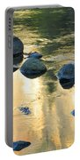 Late Afternoon Reflections In Merced River In Yosemite Valley Portable Battery Charger