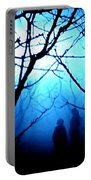Late Full Moon Walk In The Wild Forest Portable Battery Charger