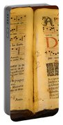 Latin Hymnal 1700 Ad Portable Battery Charger