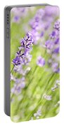 Lavender Blooming In A Garden Portable Battery Charger