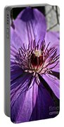 Lavender Clematis Portable Battery Charger