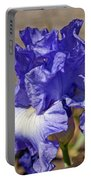 lavender Iris Portable Battery Charger