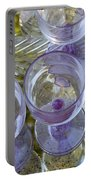 Lavender Wine Glasses Portable Battery Charger