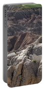 Layers Of Rock In The Badlands Portable Battery Charger
