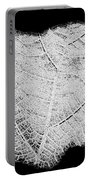 Leaf Design- Black And White Portable Battery Charger