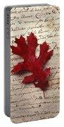 Leaf On Letter Portable Battery Charger