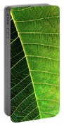 Leaf Texture Portable Battery Charger by Carlos Caetano