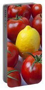 Lemon And Tomatoes Portable Battery Charger
