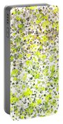 Lemon Lime Abstract Portable Battery Charger