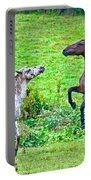 Leopard V Standardbred Portable Battery Charger by Betsy Knapp