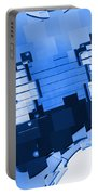 Abstract Guitar In Blue 2 Portable Battery Charger