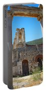 Library Of Celsus And Columns Portable Battery Charger