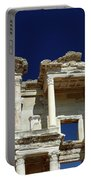 Library Of Celsus In Ephesus Portable Battery Charger by Sally Weigand