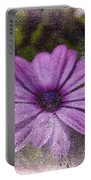 Light Purple Daisy Portable Battery Charger
