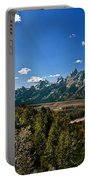 Light Rays On The Grand Tetons Portable Battery Charger