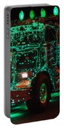 Lighted Green Dumptruck Portable Battery Charger