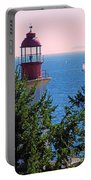 Lighthouse And Sailboats Portable Battery Charger