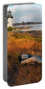 Lighthouse At Dawn Portable Battery Charger