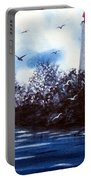 Lighthouse Blues Painterly Style Portable Battery Charger