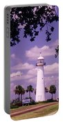 Lighthouse In Biloxi Mississippi Portable Battery Charger