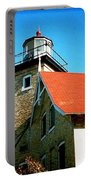 Lighthouse In The Fall Portable Battery Charger