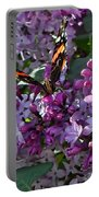 Lilac Butterfly Portable Battery Charger