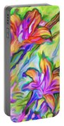 Lilies Transformed Portable Battery Charger