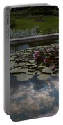 Lillies And Clouds Portable Battery Charger