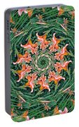 Lilly In Abstract Portable Battery Charger