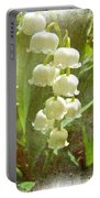 Lily Of The Valley - In White #2 Portable Battery Charger