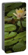 Lily Pads And Blossoms. No186 Portable Battery Charger