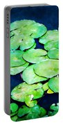 Lily Pads And Lotus Portable Battery Charger