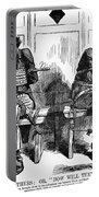 Lincoln Cartoon, 1864 Portable Battery Charger
