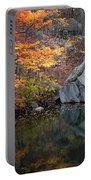 Lincoln Woods Autumn Boulders Portable Battery Charger