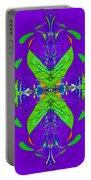 Linear Movement In Purple Portable Battery Charger