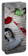 Lips Pen And Old Letter Portable Battery Charger