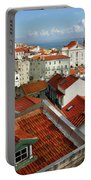 Lisbon Rooftops Portable Battery Charger by Carlos Caetano