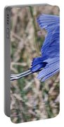 Little Blue Heron In Flight Portable Battery Charger