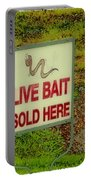Live Bait Sign Portable Battery Charger