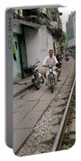 Living By The Tracks In Hanoi Portable Battery Charger